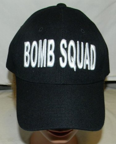 new without tags bomb squad police velcro  snap back adult baseball  hat
