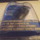 NEW Sakar iConcepts 77850 PS/2 4D Wireless Internet Scroll Mouse