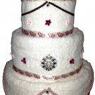 Wedding Towel Cake - CUSTOM DESIGNED - Wedding/Bridal Shower Gift - NEW
