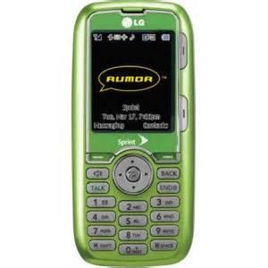 Sprint LG Rumor cell phone