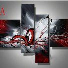 No Frame!! oil paintings on canvas red black white home decoration Modern abstract wall art
