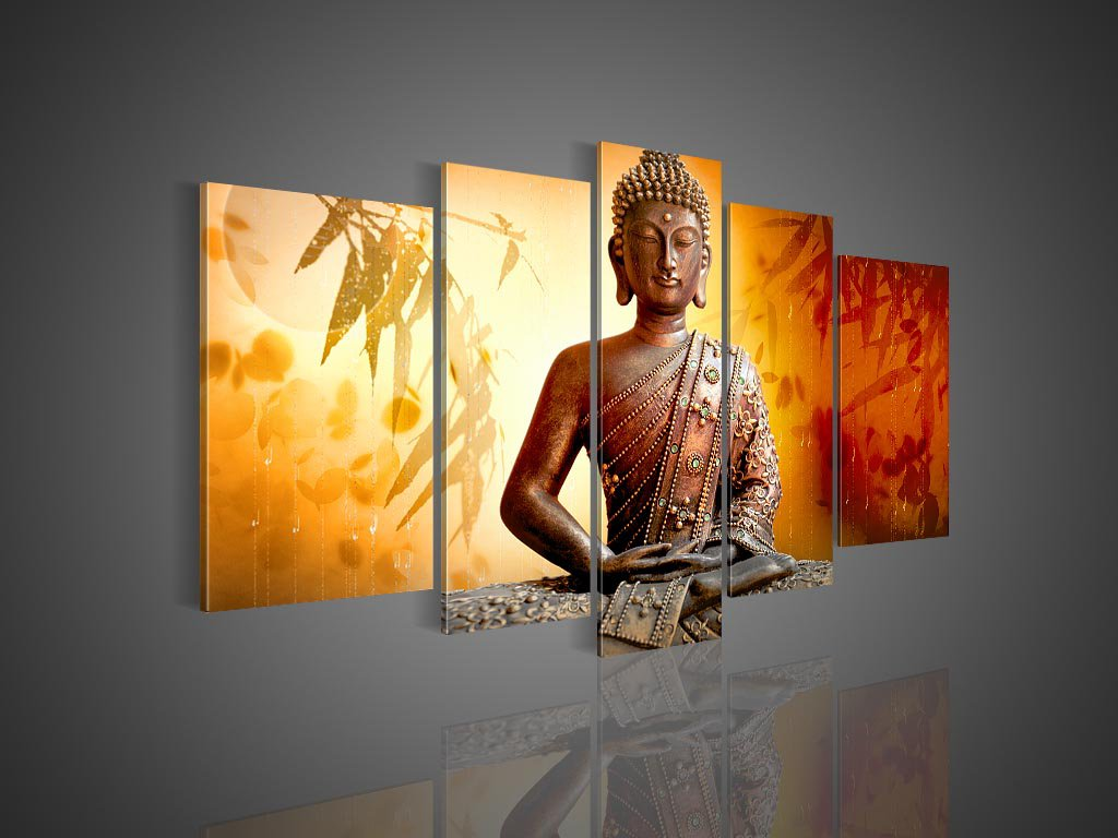Framed!! Zen Buddha Painting Buddhist Wall Decor Handmade Oil Painting