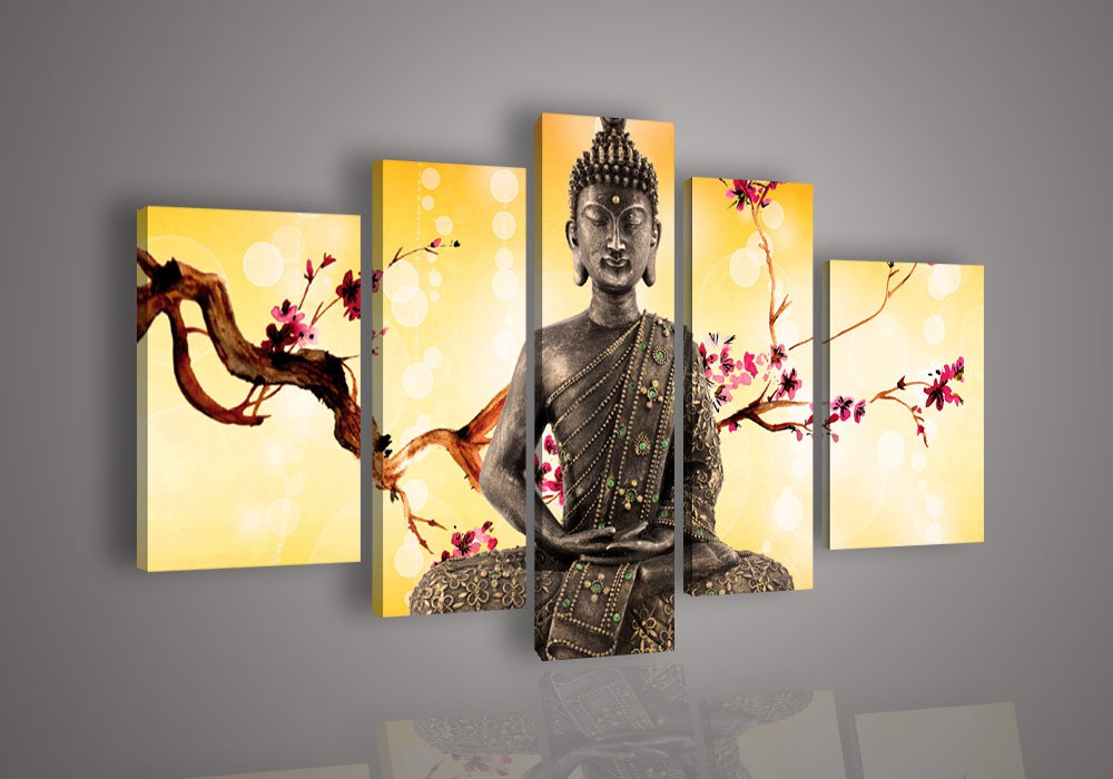 Wall Art Canvas. Unframed Flower Modern Wall Painting Canvas Print ...