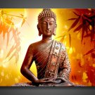 Framed & Stretched!! Huge Wall Decoration Buddha Face Oil Painting on Canvas