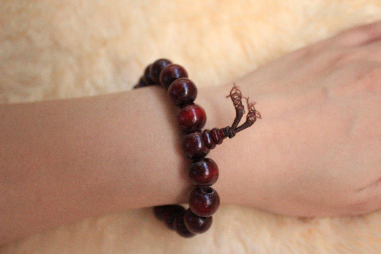 Wholesale Unisex Sandalwood Buddha Bead Buddhist Lucky Stretchy Bracelet