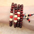 108 Tiger Eye Gem Beads Tibetan Buddhist Prayer Mala Bracelet with Free Mala Bag 8mm Buddha