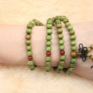8mm 108 Traditional Mala Beads Green Sandalwood Buddha Beads