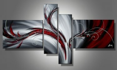 Stretched!! Hand Painted Beautiful Abstract Oil Painting for Home Decoration