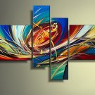 Framed!! 100% Hand Painted Wall Art Abstract Oil Painting on Canvas for Home Decor