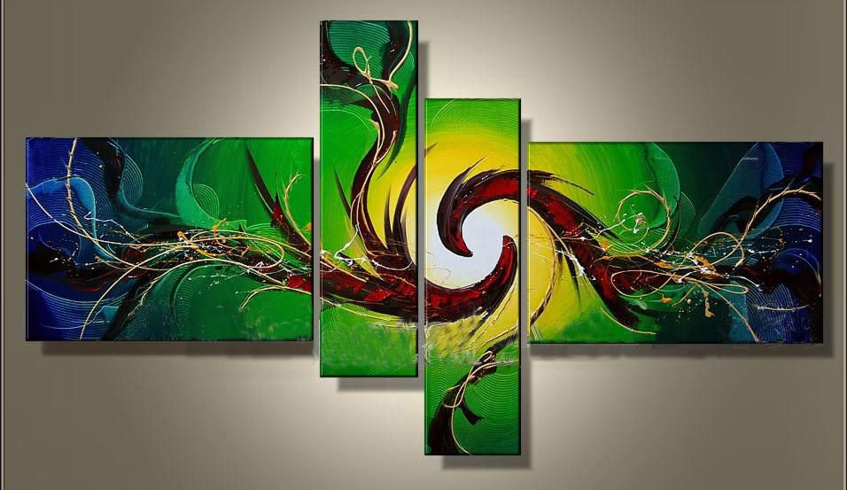 Framed!! hand-painted Canvas Wall Art Acrylic Abstract Oil Painting Home Decoration Modern Art