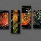 Framed!! Modern abstract oil painting on canvas for home decoration wall art work on canvas