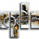 Framed!! hand painted modern abstract oil painting on canvas for living room home decoration