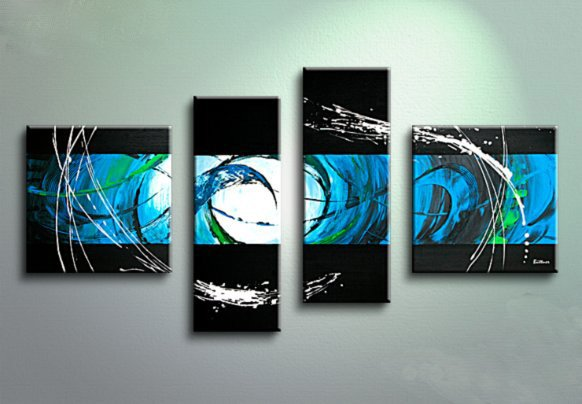 Framed!! Large Size High Quality Abstract Oil Painting on Canvas for Decor