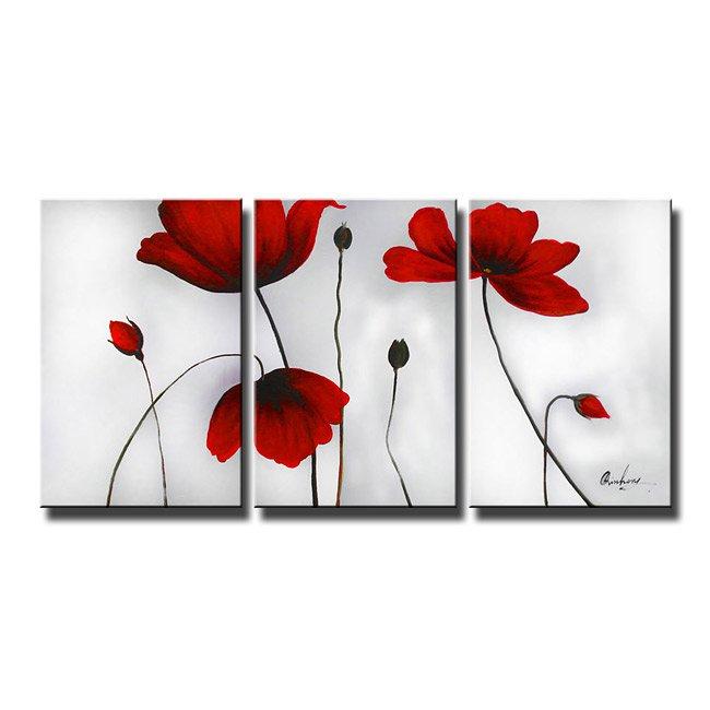 Framed!! 100% Handmade Modern Wall Art Flower Oil Painting on Canvas Home Decor