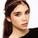 Girl Fashion Pink Metal Rhinestone Head Chain Jewelry Headband Hair Accessories