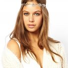 Women Fashion Alloy Gray Leaves Headband Hair Band Hair Accessories