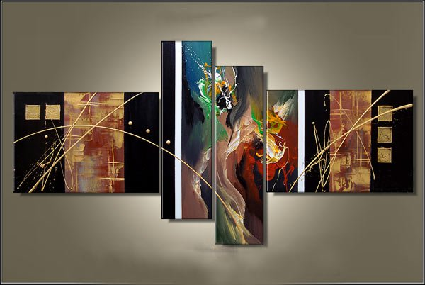 Stretched!!!Handmade Wall Art Abstract Oil Painting On Canvas(small size)