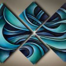 Stretched!!Decor oil painting on Canvas High quality oil painting 4pcs