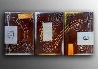Ready to hang New HUGE CANVAS WALL ORNAMENTS MODERN ABSTRACT OIL PAINTING