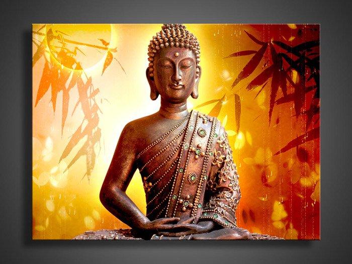 No Framed!!Handmade Modern Buddha Religion Oil Painting on Canvas