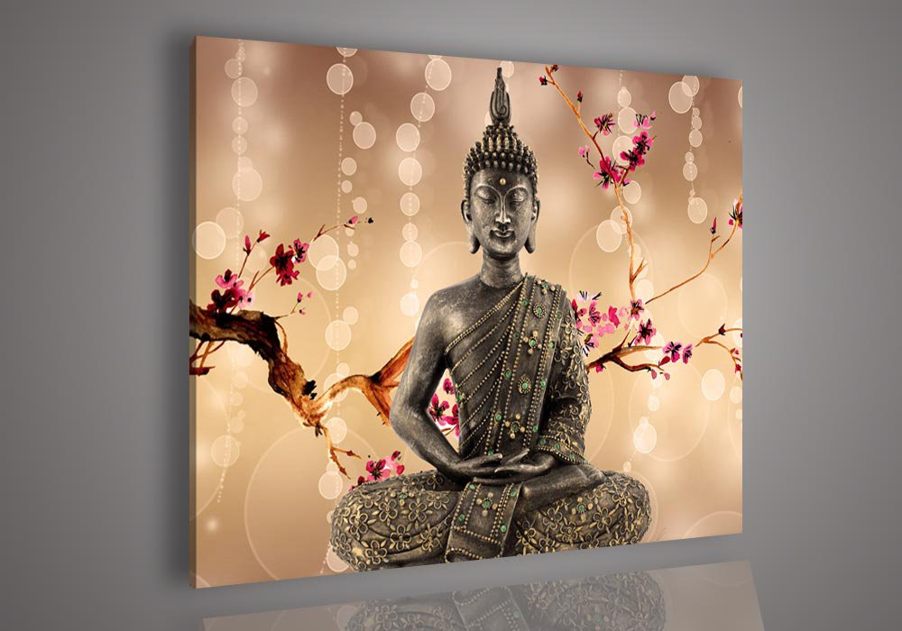UnStretched!Handmade Modern Buddha Religion Oil Painting on Canvas No Frame