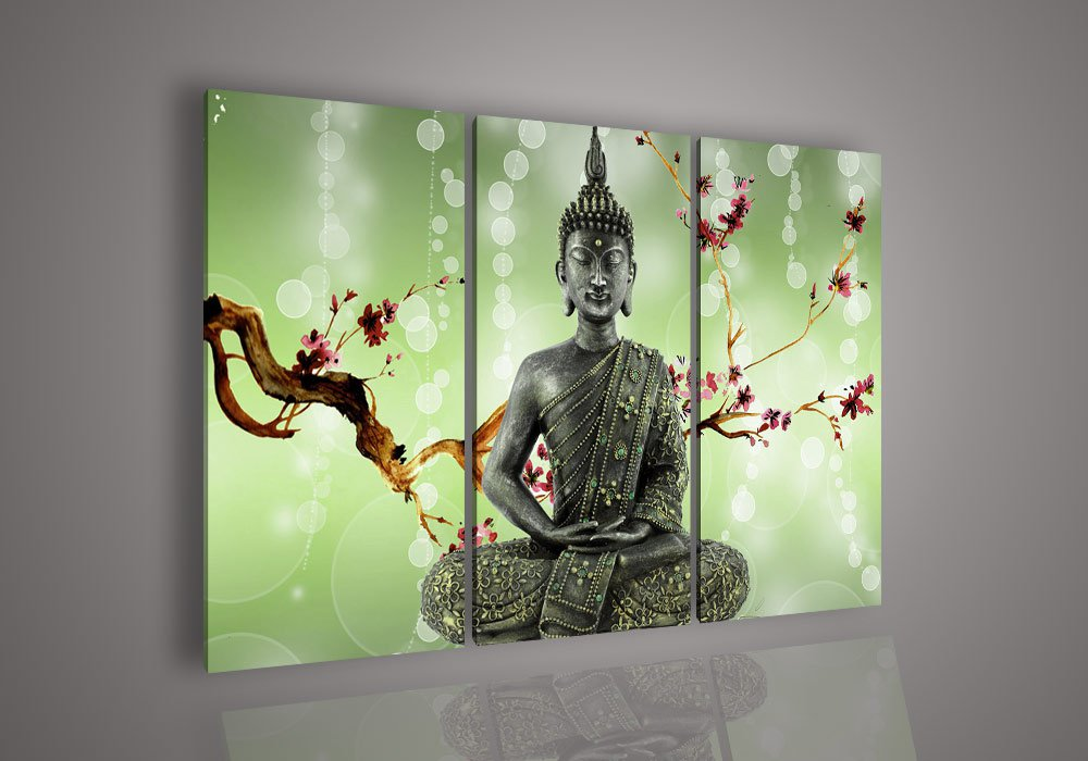 Oil painting buddha head - pure hand painting oil painting entranceway (no Framed)