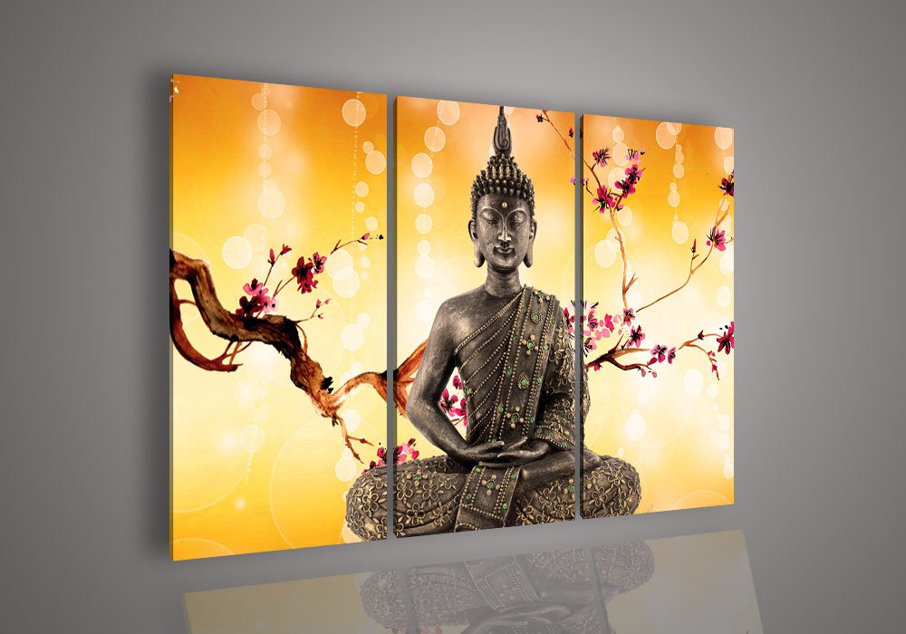 Wall Art Religion Buddha Oil Painting Picture Glass Paintings Abstract Pictures No Frame