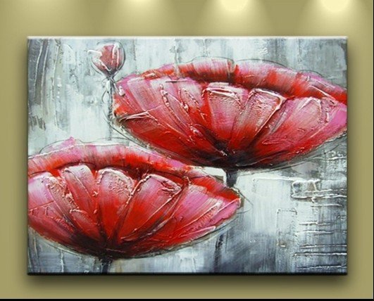 good quality large contemporary paint cherry blossom palette knife painting No Frame
