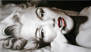 No Frame! handmade modern nude Sexy Marilyn Monroe Audrey Hepburn oil painting on canvas wall art