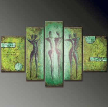 5 Panel Huge Wall Art Sex Nude Women Naked Girls Love Modern Oil Painting on Canvas No Frame