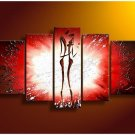 Huge Size Wall Paintings On Canvas Modern Abstract African Woman Painting Home Decor No Frame