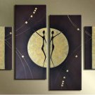 Framed 4pcs/set Handmade Modern Dancing Oil Painting on Canvas