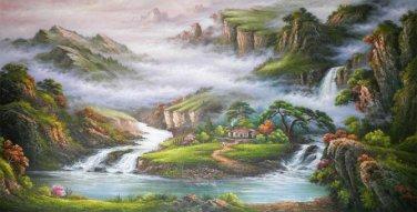 huge modern Trees mountain hd prints canvas art landscape unstretched No Frame
