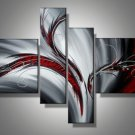 Abstract Canvas Painting Oil Black White Red Wall Art Decoration Home Modern Fashion No Framed