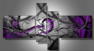 No frame!Handpainted Modern abstract Oil Painting On Canvas Huge Purple Wall Art Top Home Decoration