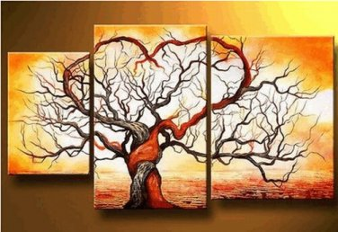 Love Tree Modern Art Oil Painting on Canvas Home Decoration No Frame