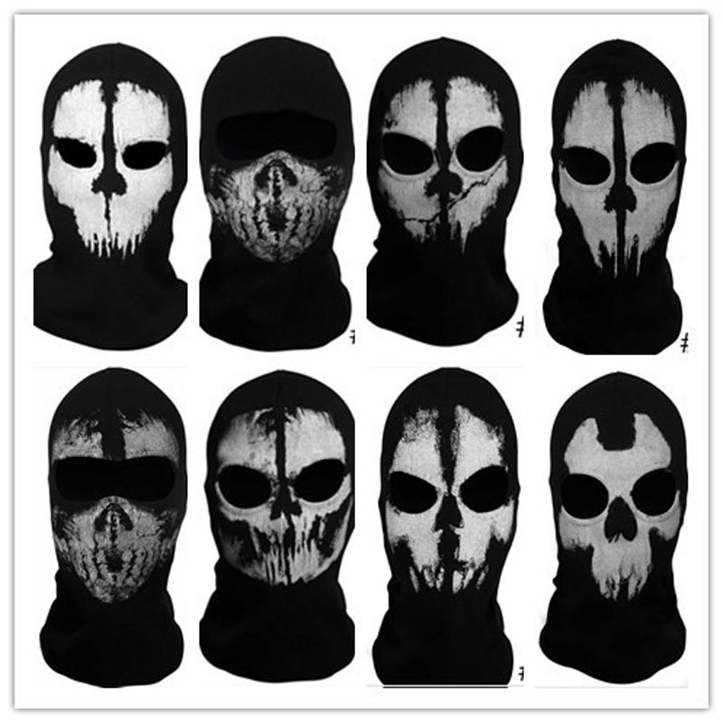 Call Of Duty Biker Suavo Ghosts Logan Last Mission Full Face Skull