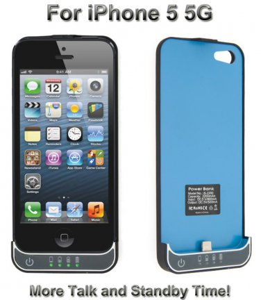iPhone 5 External Battery Backup Juice Pack Charger Case 2200mAh