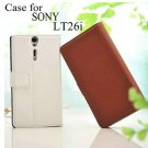 SONY Xperia S LT26i Leather Wallet Case Cover Protector