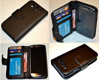 SAMSUNG GALAXY S3 i9300 Leather Case Wallet 2in1 Phone Flip Cover