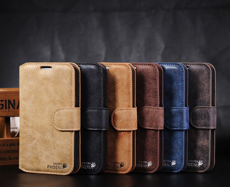 Leather Samsung Galaxy Note 2 N7100 Phone Case Wallet Cover