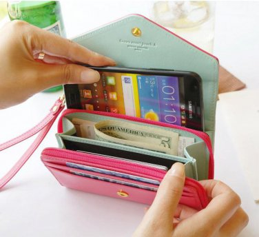Universal Smartphone Clutch Purse Wallet iPod Touch Case Cover Handbag