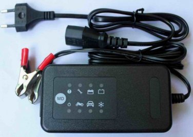 12V Car Sulfated Battery Charger Restore Renew Maintain US/EU Plug
