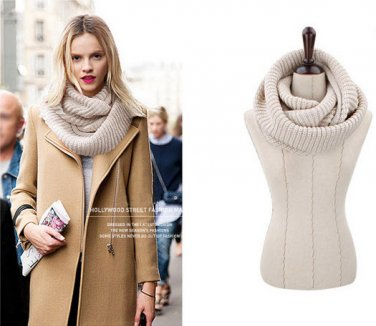 Hot Style Unisex Winter Shawls Scarves Ring Neck Collar Warmer