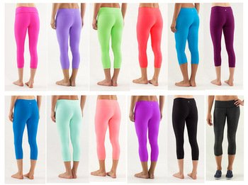 Wunder Yoga Capris Women Active Wear Pants Tights Candy Colors