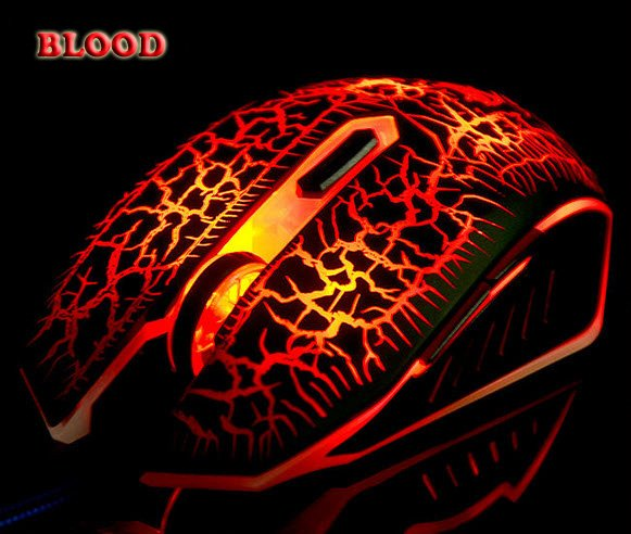 Pro Blood Frost Gaming Mouse 6 Buttons 2800DPI Mice