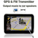 "GPS 4.3"" Car Navigator Touch Screen Map FM Transmitter"
