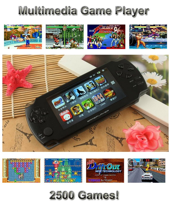 Multimedia Video Game Player Handheld Console TV Out 2500 Games Installed