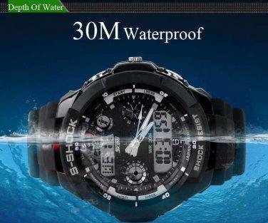 Sports S-Shock Digital Watch Mens Watches Waterproof Shock Resistant Wristwatch