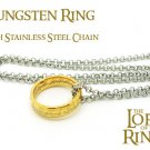 Tungsten Lord of the Rings Jewellery Ring 6mm + Steel Chain